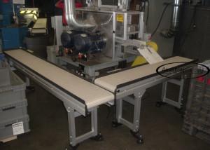 2 90 degree turn-machining conveyor systems