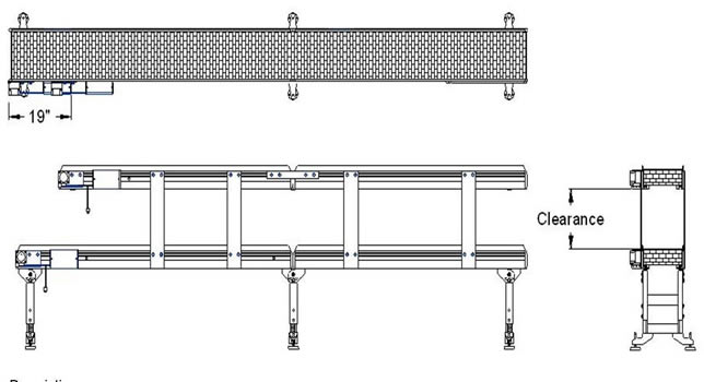 Level Drawing Multi-level Conveyor Drawing
