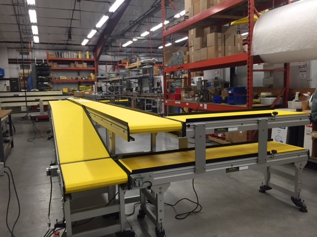 Photos of 90 degree turn conveyor systems for Wood floor 90 degree turn