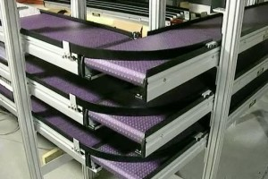 Tri- Level 90 Degree Turn Conveyor System