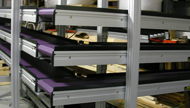 117) 90 Degree Turn Conveyor with Multiple Levels