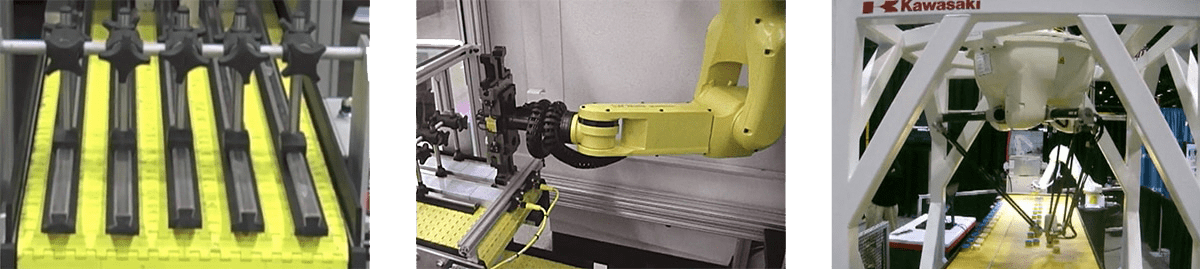 conveyor systems that interface with robotics