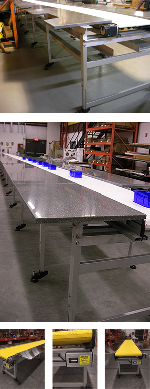 SmartMove® conveyors custom designs work station and surface conveyor systems