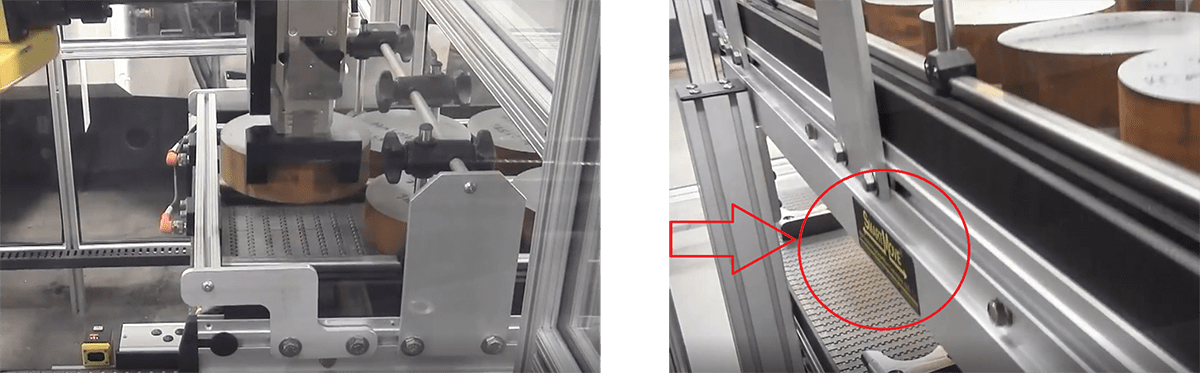 robotic interface conveyor for assembly machine
