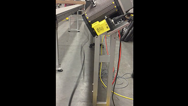 219) Angled accumulation conveyor