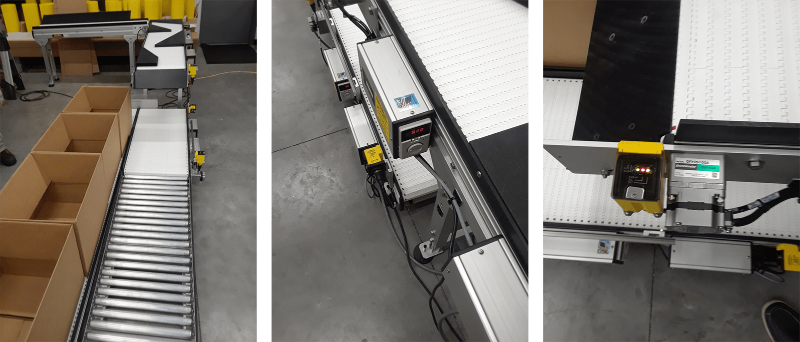 indexing box filling conveyor with singulation and accumulation