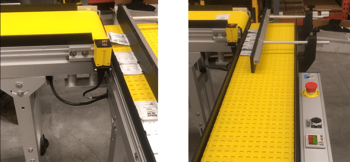 indexing counting shingling conveyor for packets