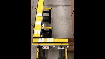 245) 90 degree separating pharmacy conveyor