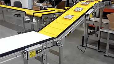 258) Pack out conveyor system
