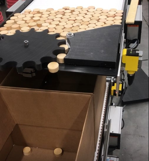 accumulate count packaging conveyor