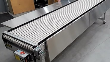 270) Stainless work surface food drug conveyor
