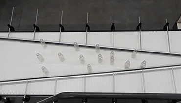 268) stainless washable singulating conveyor
