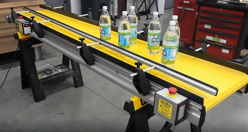 reversible conveyor double stops