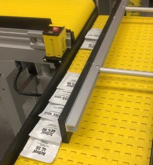 infra red batch counting conveyor system