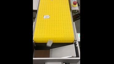 300) Item count conveyor – packaging diverter