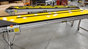 307) multi lane circulating carousel conveyor